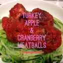 Turkey, Apple & Cranberry Meatballs With Chargrilled Bell Pepper Sauce