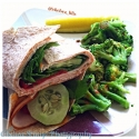 Turkey Veggie and Hummus Wrap