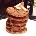 Vanilla Apple Almond Protein Pancakes
