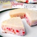 Vanilla Raspberry Protein Cheesecake