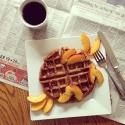 Vanilla-Spiced Protein Waffle