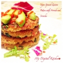 Vegan Spinach Quinoa Patties With Avocado and Sriracha