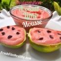 Watermelon Avvocado Lime Mousse