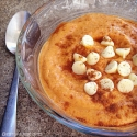 White Chocolate Pumpkin Pudding