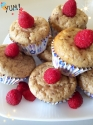 White Chocolate Raspberry Cheesecake Protein Muffins